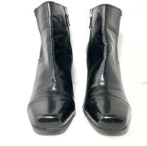 Franco Sarto Relic Black Vegan Leather Boots Sz10